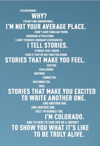 Colorado Come to Life mantra